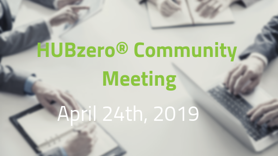 HUBzero® Community Meeting